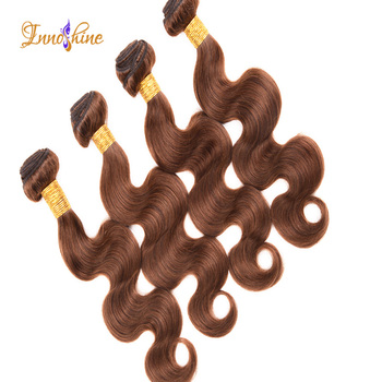 Wholesale dark golden brown hair color body wave human hair weave hair color 30