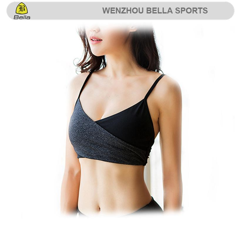 custom design logo Top Quality Sexy Design Fitness Wear Ladies Fashion Black Yoga sports Bra women fitness fashion active bra