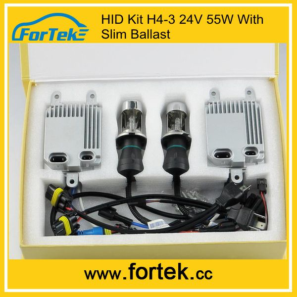 Wholesale Slim AC 24V 55W Bi Xenon HID Kits H4-3 H/L HID Conversion Kit with E-mark Car Headlight for SUZUKI, Land Rover