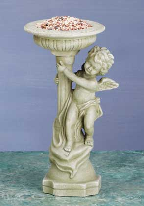 Alabastrite Cherub With Bird Bath