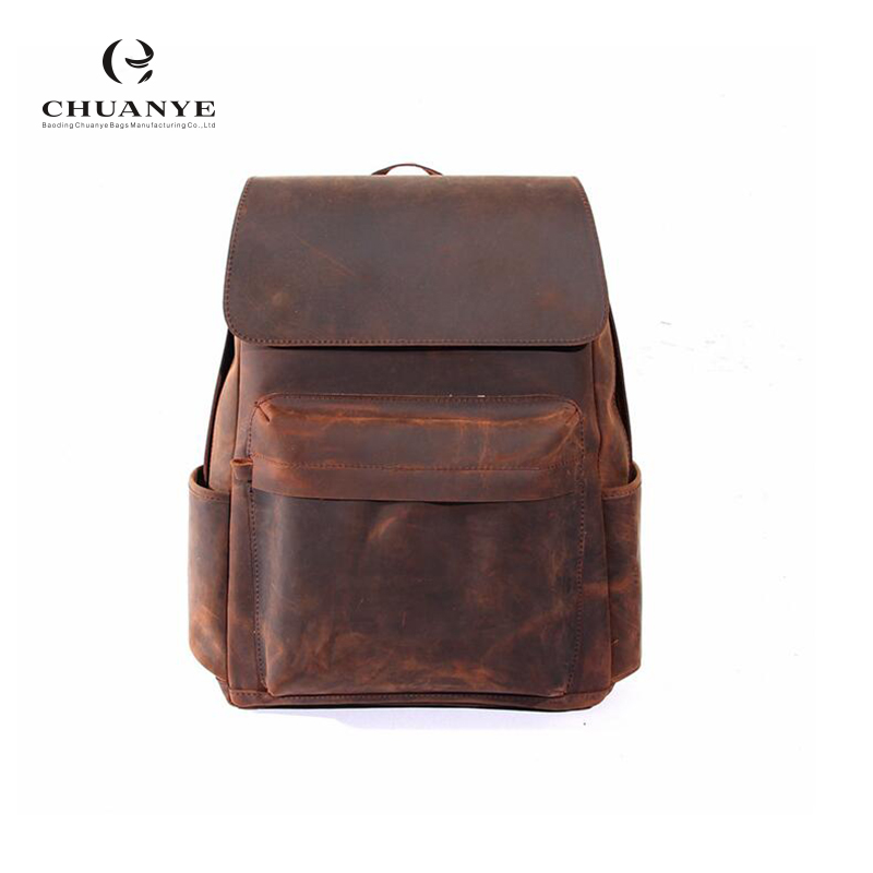 Low Price Wholesale waterproof outdoor backpack bag men genuine leather backpack