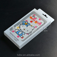 Customized phone plastic box with blister,printing