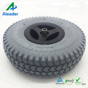 Electric Wheelchair Parts Foam Filled Solid Wheels With Cheng Shin Tires 260x85 3.00-4 wheel