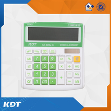 CE ROHS 12 digit solar cell desktop calculator