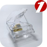 Decoration Crystal piano music box shaped music box