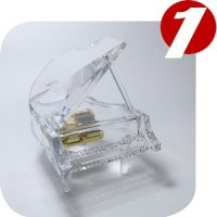 Decoration Crystal piano music box shaped wedding favors music box