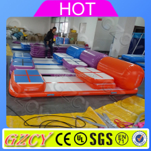 Commercial inflatable folding air track set tumble gym air floor for sale
