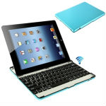 New style Alloy Shell bluetooth Keyboard Mobile Bluetooth keyboard Hard Key Aluminum keyboard for iPad 4 ,for New iPad