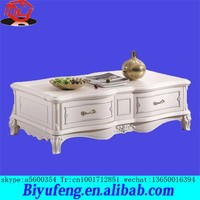 Manufacturers selling fashionable sitting room european-style solid wood tea table white marble spot wholesale tea table