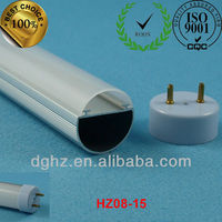 T8 led polycarbonate extrusion with aluminum heatsink