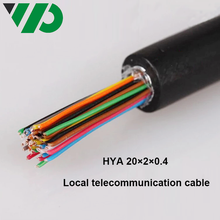 20 Pair Telephone Cable Waterproof Electrical Lszh Lsoh PVC Jelly Filled Telephone HYA 0.4mm Twisted Pair Cable