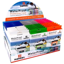 30 PCS Mixed Colors HAWEEL Transparent Universal Waterproof Bag Kit with Display Stand Box for iPhone 6 & 6 Plus / 6S & 6S Plus,
