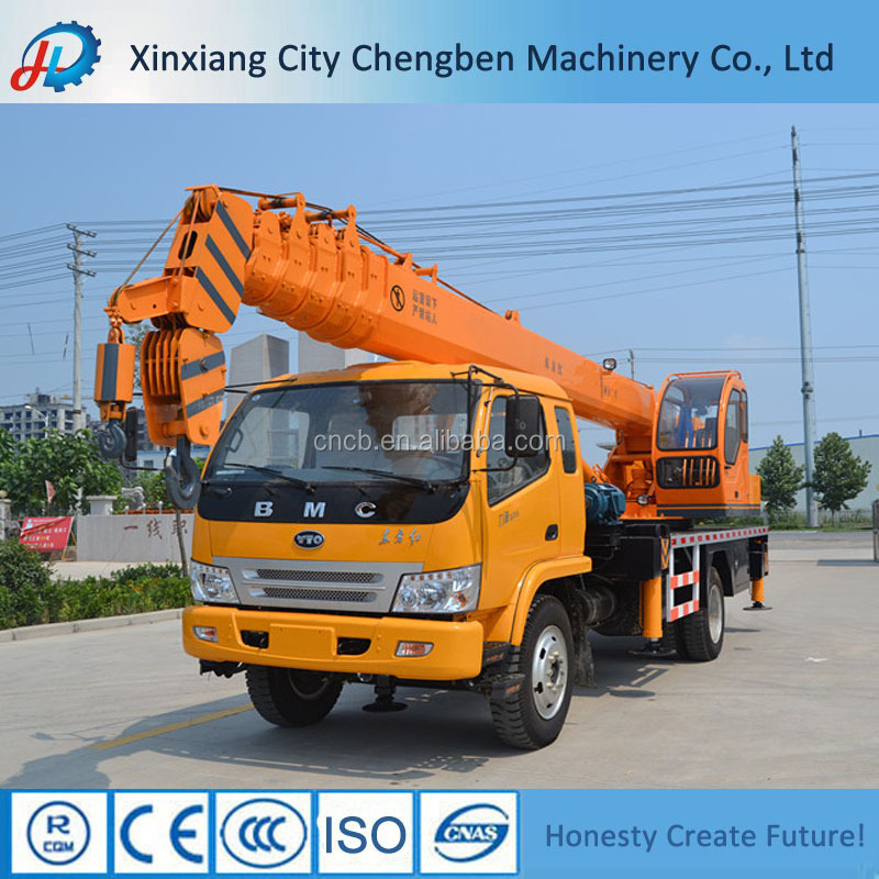 Large Productivity Durable Hydraulic Truck With Crane 8 Ton