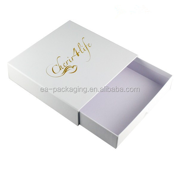 Cardboard sliding sleeve paper drawer packaging box made in China