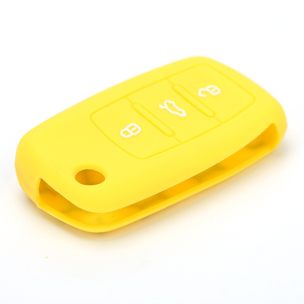 Silicone smart car key holder manufacturer for Volkswagen GLI Protective silicone car key cover FOB