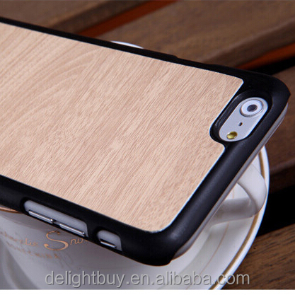 Plastic Wood Grain Case for iPhone6 and for iphone 6 plus- Friendly Wood Grain Protective Cover for iphone 5