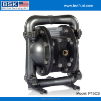Alkaline corrosive liquid pumping pneumatic diaphragm pump
