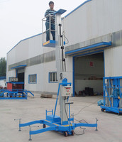 Single mast electric vertical man lift