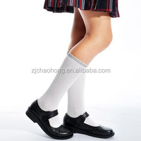 School girls white knee high socks