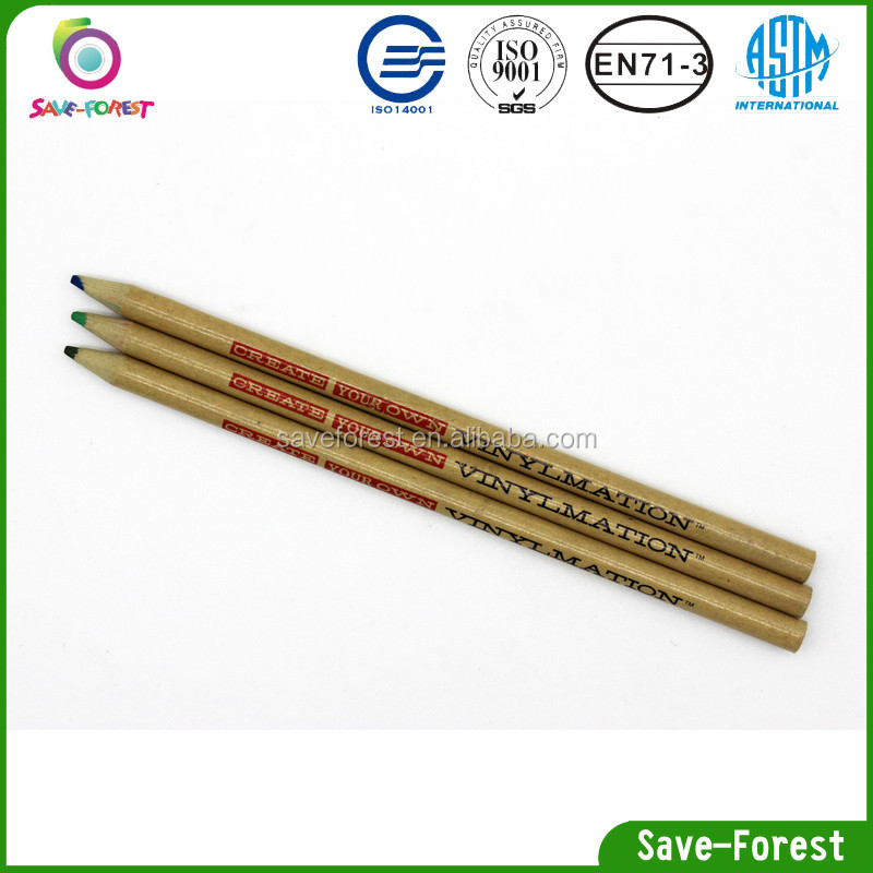 Round shape woodness color pencil with OEM logo