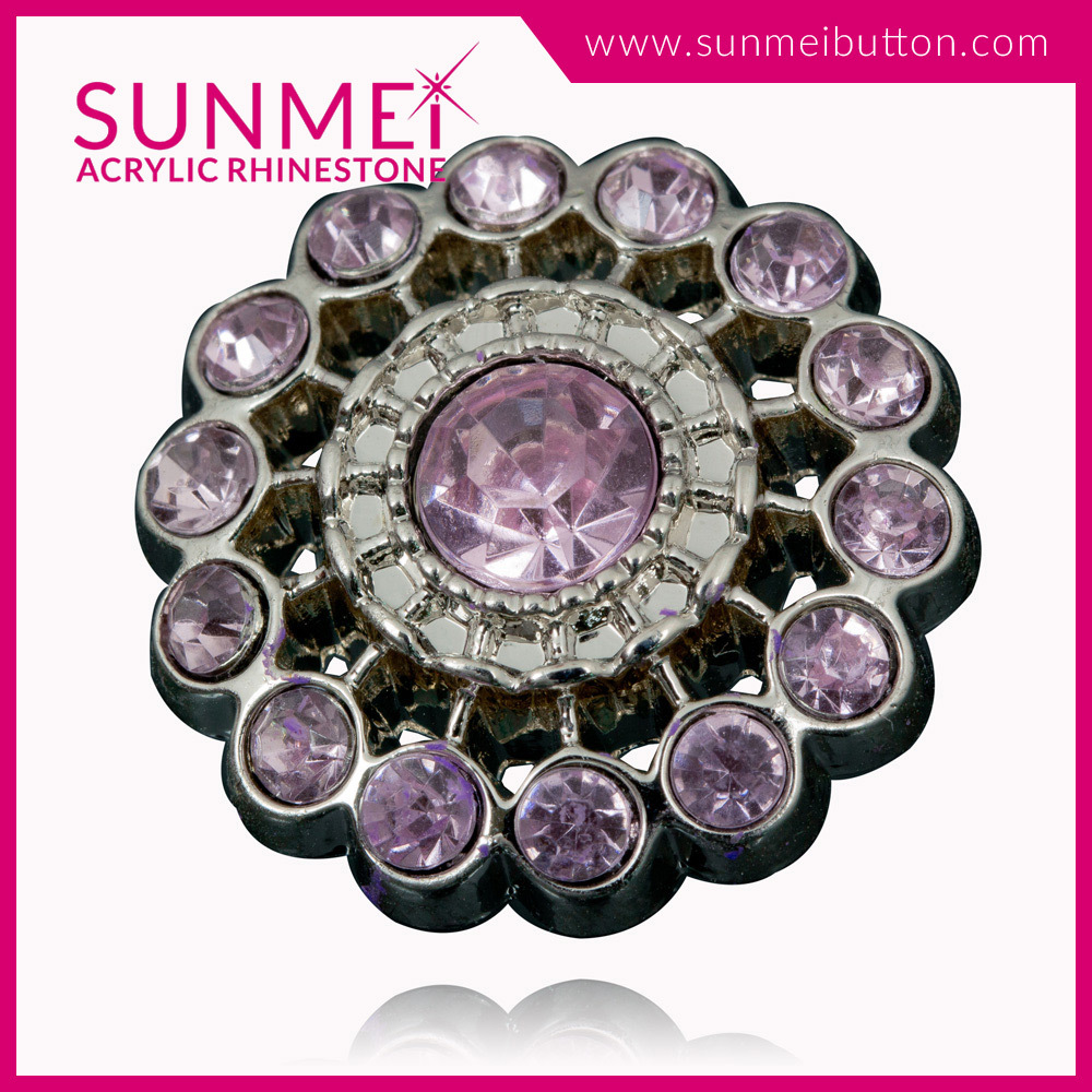 Fancy Acrylic Plastic Rhinestone Button Covers