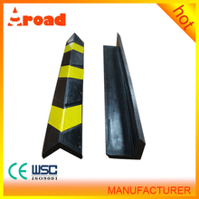 SGS standard yellow & black corner wall protector with rubber material