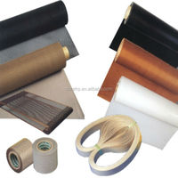 High temperature heat resistant non-stick teflon/ptfe coated fiberglass cloth for industrial