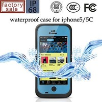 OEM Wholesale Mobile Phone TPU+Silicone Waterproof Cover Case for iPhone 5C