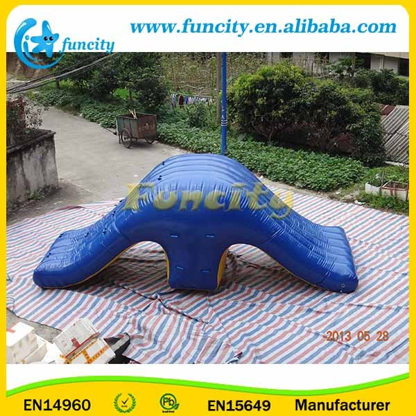 Shaking Inflatable Water Revolution / Water Park Toys In Hot-welding Machine
