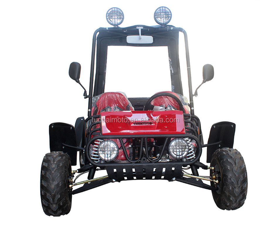 China made Cheap 110cc minis off road manual gears go karts for kids with roof/roof lights/Reverse gears (TKG110-L)