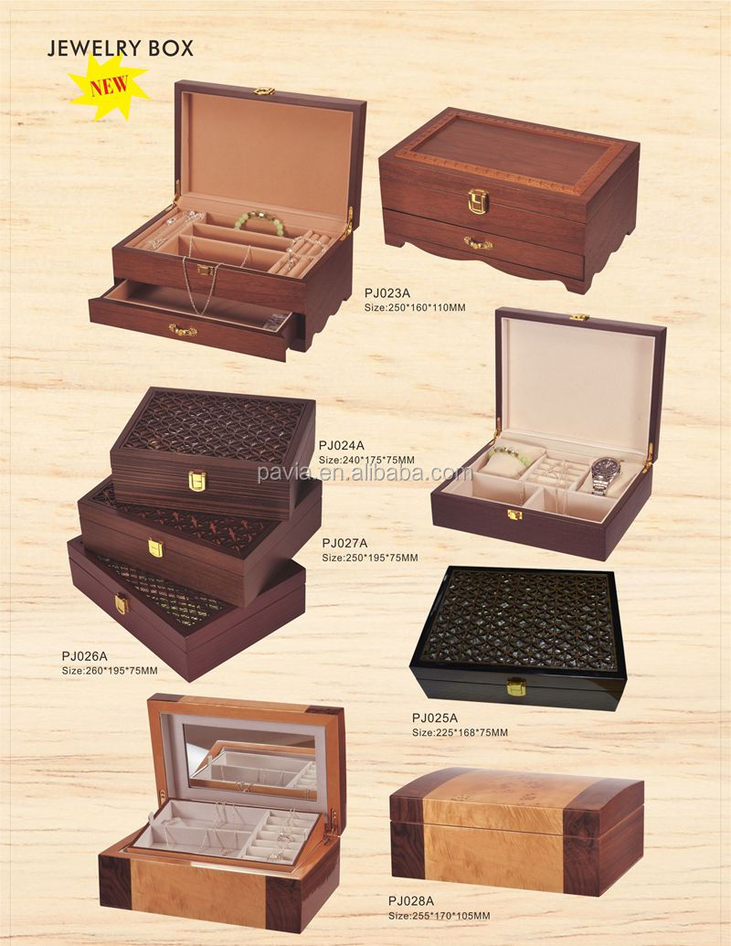 PW006A 2017 leather watch case with display storage case watch gift box
