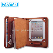 Custom multifunctional leather paper a4 size leather document holder planner