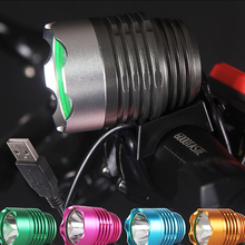 Rechargeable CREE XM-L T6 USB 5V Bike Light 1600LM Max LED Bicycle Light Headlight