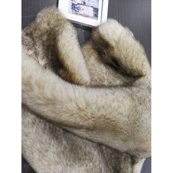 STABILE 2017 Factory wholesale chinchilla faux fur fabric for travel on airplane