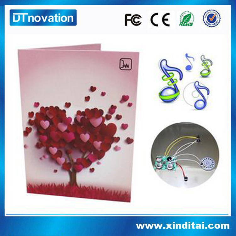 Manufacturer make beautiful voice recording greeting cards