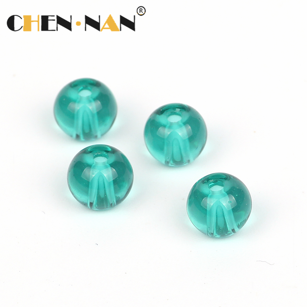 4mm round blue crystal glass beads made in usa smooth Glass Beads
