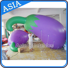 Hot Sale Best Price Custom Made Eggplant Giant Vegetable Inflatable Helium Balloon