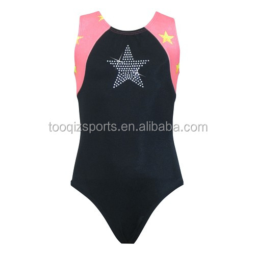 rhinestone shiny gymnastics leotard for girls