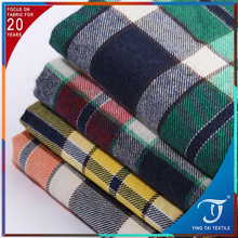 Factory direct SMALL MOQ brush design for Autumn & Winter 100 cotton check pattern fabric
