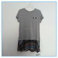 OEM Ladies Women's Top Shirt, T Shirt, Blouse, Femail Short Sleeve T Shirt