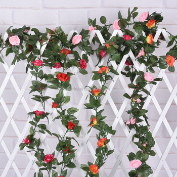 artificial rose flower vine NKG171