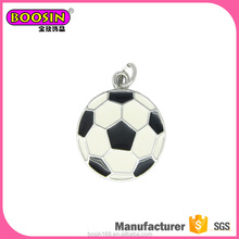 Fancy 2D design Sports charms wholesale price soccer charm for keychain