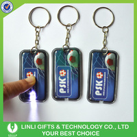Fashion Design Promotional Led Custom PVC Key Chain