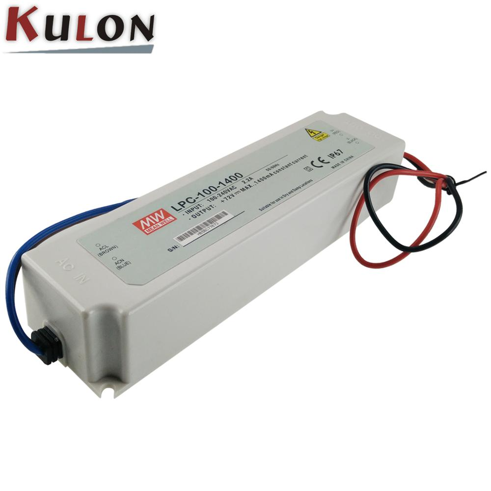Meanwell Constant Current LED Driver LPC-100-2100 100W 2100mA