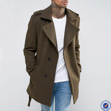 men fashion coat wholesale men winter olivia long belted trench coat