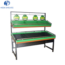 China Supermarket Fruit Vegetable Rack Dried and Wet Vegetable Display Stand Factory Price