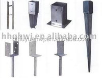 Metal steel post support for wood fence