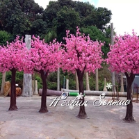 High quality silk artificial pink peach fake blossom trees fake tree for wedding indoor or outdoor decoration