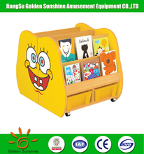 Wooden furniture home kindergarten bookshelf for learning