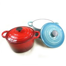6 pieces Tiffany blue enamel cast iron cookware casserole set wholesale cookware